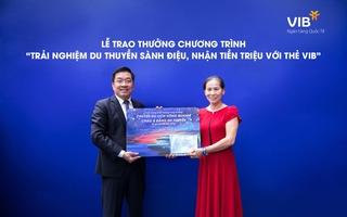 Đã có 2 chủ thẻ tín dụng VIB trúng cặp vé du lịch châu Á bằng du thuyền