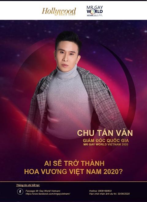 Chu Tấn Văn trở thành giám đốc quốc gia tại Việt Nam của Mr Gay World 2020
