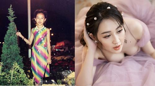 """Bất ngờ tung loạt ảnh tuổi thơ, fans khen Huỳnh Thúy Anh """"xinh đẹp từ bé"""""""