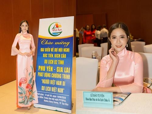 Hoa hậu Lê Bảo Tuyền tham dự hội nghị xúc tiến, kích cầu du lịch Phú Yên - Gia Lai