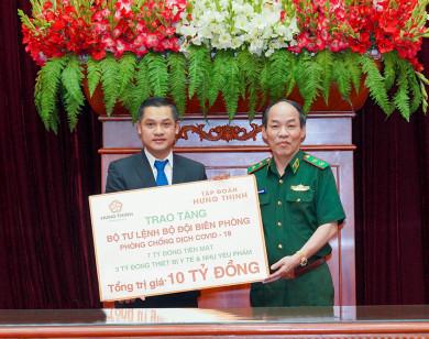 Tập đoàn Hưng Thịnh trao tặng 10 tỷ đồng cho Bộ Tư lệnh Bộ đội Biên phòng nhằm hỗ trợ hoạt động phòng, chống dịch Covid-19
