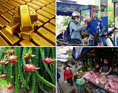 Tiêu dùng trong tuần: Giá vàng, xăng dầu, thực phẩm đồng loạt tăng mạnh