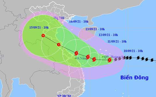 Bão số 5 giật cấp 13 ảnh hưởng từ Thanh Hóa - Quảng Ngãi, gây mưa rất to